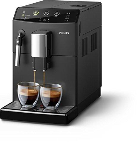 Philips HD8827/09 Máquina Espresso, 1850 W, 1.8 litros, Acero Inoxidable, Negro