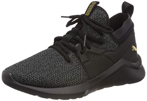 Puma Emergence Wn's, Scarpe Running Donna, Nero Black Team Gold, 38 EU