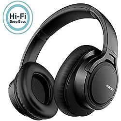 Mpow H7 Casque Bluetooth sans Fil,Casque Audio Confortable Cache-Oreilles Portable et Pliable,CVC 6.0 Casque sans Fil,Stéréo Hi-FI avec 18-25 Heures Casque Bluetooth pour Téléphone/Tablettes/PC