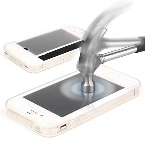 Apple iPhone 4 / 4S Hülle Original UrCover® inkl. Displayschutz Touch-Case rundum Schutz Tasche [DEUTSCHER FACHHANDEL] Handy Cover Schale Etui Full View-Case Schwarz Voll Transparent