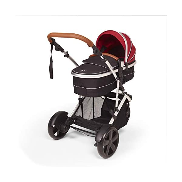 Fitty Jogger Junior (Berry red) Kids Kargo Clever single or double pushchair, suitable from birth. Detachable Toddler seat (sold separately) great future investment Carrycot converts to rear/forward facing seat unit (see demonstration) 1