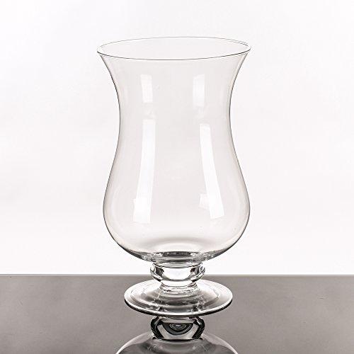 Jarrón de copa minimalista transparente de cristal para salón Basic