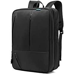 CoolBELL 17,3 Zoll umwandelbar Aktentasche Rucksack Messenger Bag Umhängetasche Business Briefcase Mehrzweck Travel Backpack Notebook Schultertasche Laptop Tasche für Laptop / Macbook / Tablet / Herren / Damen(Schwarz)