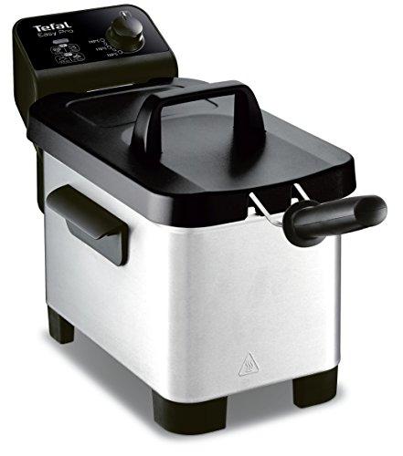 Tefal FR331070 Friteuse Semi-Pro Easy Pro 3L Zone Froide et Couvercle de Rangement Gris/Noir