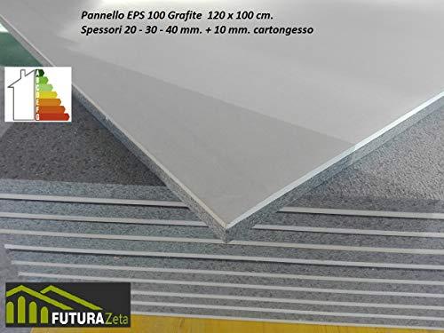 10 EPS-Platten mit Graphit aus Styropor + Gipskarton, 100 x 120 x 3 cm, Wärmedämmung und Schalldämmung für den Innenbereich.