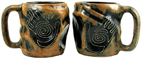One (1) MARA STONEWARE COLLECTION - 20 Oz. Rock Art Coffee Cup Collectible Dinner Mug - Healing