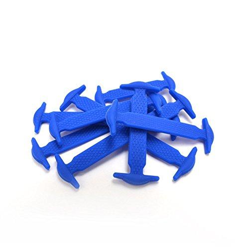 Jordanien Spitze (ANPI Kein Krawatten Silikon Schnürsenkel für Erwachsene und Kinder, Elastische Krawatte frei Waschfreie Schuh Schnürsenkel für Laufschuhe Freizeitschuhe, 16pcs, Blau)
