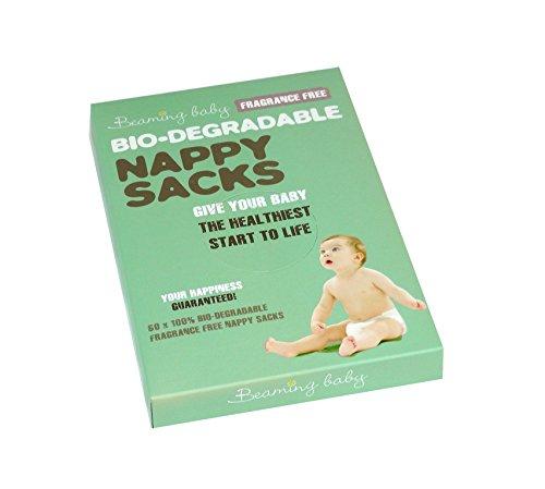 Beaming Baby Fragrance free biodegradabili per pannolini-60sacchi a confezione