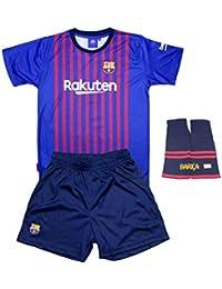 Personalizador Conjunto Complet Infantil FC Barcelona Réplica Oficial  Licenciado de la Primera Equipación Temporada 2018-19 - Dorsal Messi 10… 143b98aa150