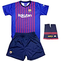 Personalizador Conjunto Complet Infantil FC Barcelona Réplica Oficial Licenciado de la Primera Equipación Temporada 2018-19 - Dorsal Messi 10 (12 años)