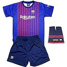546175a637 Personalizador Conjunto Complet Infantil FC Barcelona Réplica Oficial  Licenciado de la Primera Equipación Temporada 2018-