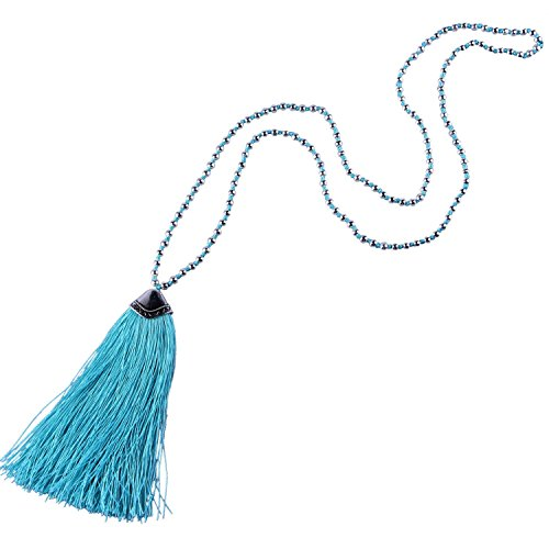 kelitch-placcato-argento-perline-catena-lungo-collana-con-nappa-pendente-leggero-blu
