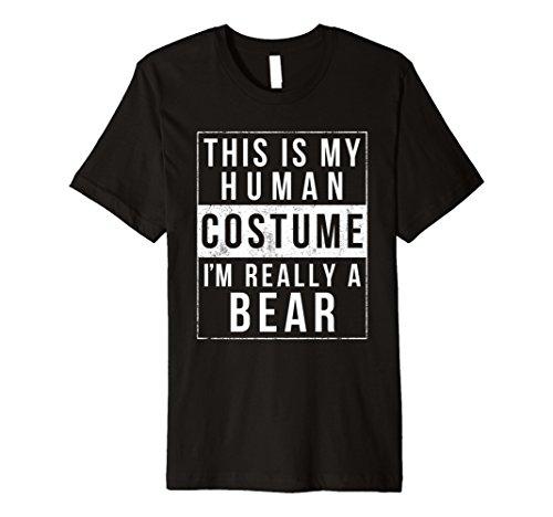 Bär Halloween-Kostüm Shirt Funny Easy für Kinder Herren Frauen