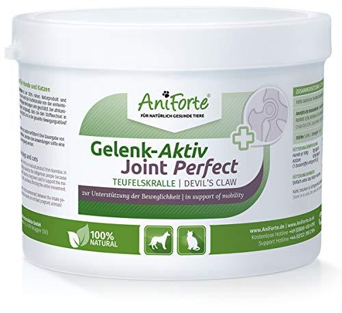 AniForte Teufelskralle Gelenk Aktiv Pulver 250g für Hunde und Katzen – Natürliche Unterstützung Gelenke, Gelenkfunktion, Agilität, Bewegungsfreude
