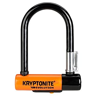 Kryptonite Evolution 5 Antivol Mixte Adulte, Noir/Orange, 14cm 8cm