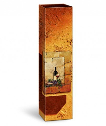 Weinverpackung Weinfaltschachtel Terra Weinkarton für 1 Flasche Maße : 78 x 78 x 360 mm VE 50 Stück