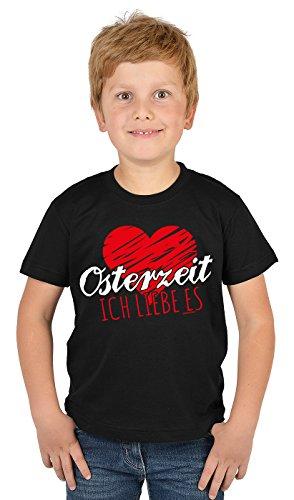 Kinder T-Shirt mit Lustigem Oster Motiv - Osterhasen Kinder-Shirt : Osterzeit Ich Liebe es - Witziges Tshirt Fürs Osternest Jungen/Mädchen Gr: XL= 158-164