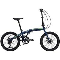 Bicicleta plegable Crosstown, unisex de Cicli Cinzia, Unisex adulto, 8033389464363, azul mate