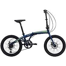 Bicicletta Pieghevole Crosstown Unisex Cicli Cinzia (Blu opaco)