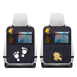2 Pezzi Protezione Sedile Auto,Impermeabile Sedile Posteriore Auto Organizzatori 2 x Tasca dell' Organizzatore Tasca…
