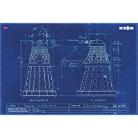 GB eye 61 x 91.5 cm Doctor Who Dalek Blueprint Maxi Poster