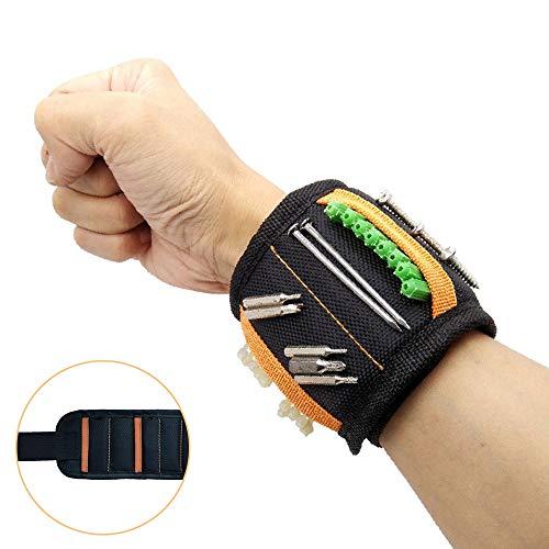 Langlebige flexible Sportschutzausrüstung Magnetarmband mit 15 leistungsstarken Magneten - Armbandgürtel-Hardware-Tool Leichtes Halten von Schrauben, Nägeln, Bohrern, Schrauben - Das beste Werkzeug-Ge -