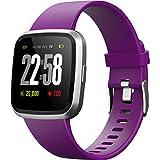 2019 Smartwatch H4 Farbdisplay IP67 Wasserdicht Smart Watches Herzfrequenz Blutdruck Schlaf Gesundheitsmonitor Fitness Activity Tracker Laufen Sport Watch Vergleich mit Android & iOS Handys, Violett