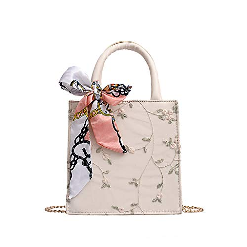 SSUPLYMY Kleine Quadratisch Tasche Mode Damen Handtasche Schultertasche Frauen Umhängetasche Frauen Wilde Kuriertasche Schal Mode Eine Schulter Kleine Quadratische Umhängetasche -
