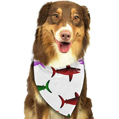 Sdltkhy Smile Fish Pet Scarf Dog Bandana Bibs Triangle Head Scarfs -