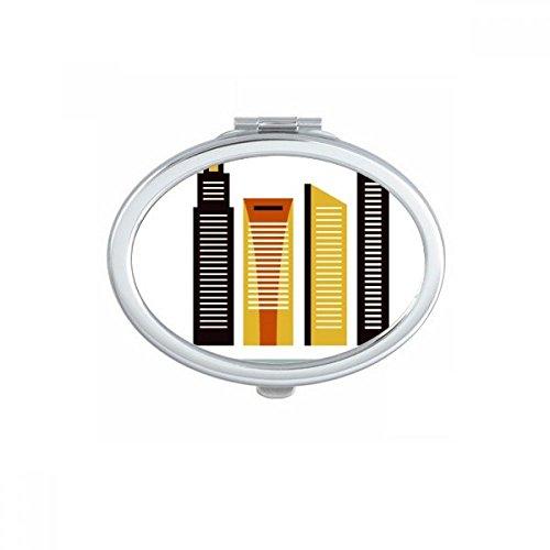 DIYthinker Singapour Suntec City Landmark Ovale Maquillage Compact Miroir de Poche Miroirs Mignon Petit Cadeau Portable à la Main Multicolor