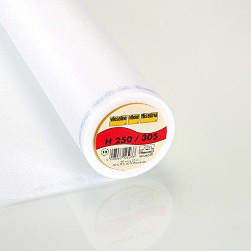 Fabulous Fabrics Vlieseinlage weiß, 90cm breit - zum Aufbügeln auf Jacken, Kleidern oder Oberteilen - Meterware erhältlich ab 0,5 m