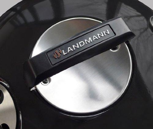 Landmann Holzkohle-Kugelgrill Black Pearl comfort, Schwarz, 70 x 61 x 98 cm -