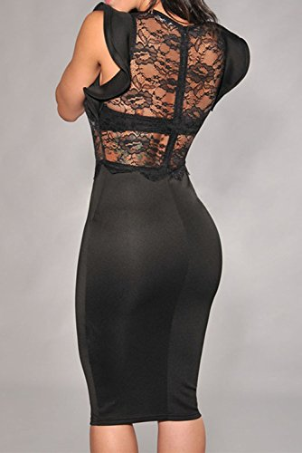 E-Girl femme Noir SY6473-2 Tenue De Soiree Noir