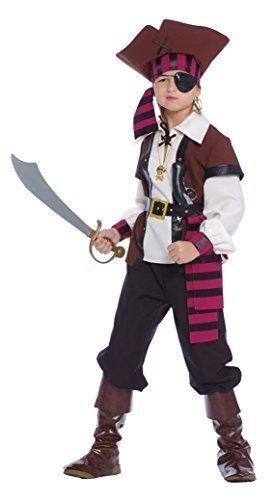 n Seas Piraten-Party Kapitän Seeräuber Büchertag Kostüm Kleid Outfit 5-12 Jahre - 10-12 years (7 Seas Piraten Kostüme)