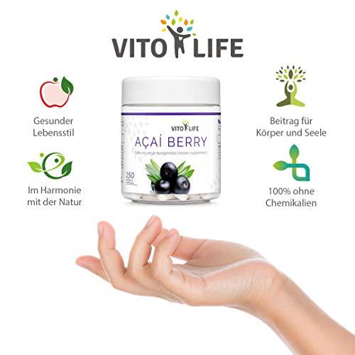 VITO LIFE Acai Beere - das beste Antioxidans der Welt - Nahrungsergänzungsmittel 150 Kapseln