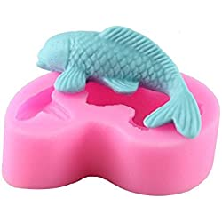 Emore pescado forma de silicona 3d Fondant Cake Mold & Escultura Home cocina para hornear herramientas de modelado