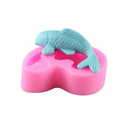 3D Fisch-Form aus Silikon zur Herstellung von Fondant-Dekoration für Torten von Emore