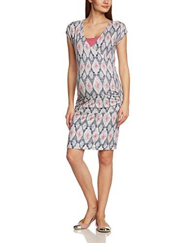 ESPRIT Maternity - O84747, Vestito da donna,  manica corta, Multicolore(mehrfarbig (creamy berry 684)), 2XL