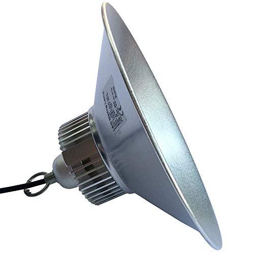LED Hallenleuchte 30W, 28cm Durchmesser, 50.000 Stunden Lebensdauer, kaltweiß 6500k, 3000 Lumen, CE und RoHS zertifiziert, Einbauleuchte, Deckenleuchte, Büroleuchte, Hallenleuchte, Fabrikleuchte, Ideal auch für einen urbanen Einrichtungsstil