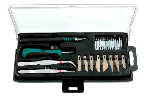 Kamasa 56071 Präzisions-Bastelmesser mit Einsätzen, 28-teiliges Set