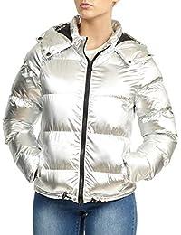 1fae207fe5a4f2 SS7 Damen gepolstert Winter Parkajacke, Metallisch Silber,sizes 8 to 16