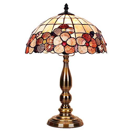 Silk Road Morning Glory Farbe Seashell Tischleuchte, Handgemachte Beleuchtung, Aluminium Basis, Wohnzimmer Schlafzimmer Nachttisch Dekoratives Licht