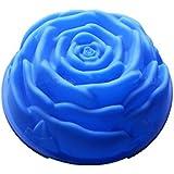 JUNGEN Moule en Silicone en Forme de Rose (Bleu) DIY Mold Grand 1 Ajour 1pcs