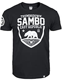 Sambo T-shirt. Thumbs Down East Republic. Last Fight. Gladiator Bloodline. Sambo Mixed Martial Arts. MMA T-shirt