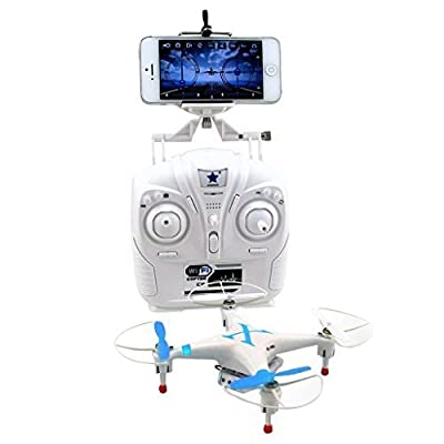 Cheerson CX-30W 2.4GHz 4CH 6-Axis Gyro 360-degree Eversion WiFi Real Time Video RC Quadcopter UFO FPV with 0.3MP HD Camera & Transmitter RTF - iPhone Transmission Control