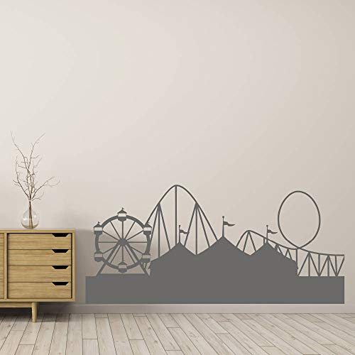 Fairground Decal Wall Decal Circus Sticker Carnival Decal Wall Art Wall Stickers Fun Fair Ferris Wheel Rollercoaster Home Decor -