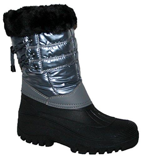 Nuovo da donna da equitazione Yard impermeabile stabile Walking pioggia neve sci caldo fattoria Mucker stivali Grey