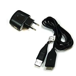 BG akku24caricabatterie e cavo di ricarica, cavo dati, cavo USB per Samsung ES55, ES60, ES65, ES70, ES75, ES80, EX1, PL100, PL120, PL150, PL170, PL20, PL200, PL210, PL50, PL51, PL55, PL60, PL65PL80, SH100, ST30, ST45, ST50, ST500, ST5000, ST5500, ST60, ST600, ST65, ST70, ST80, ST90, ST95, WB2000, WB210, WB500, WB5000, WB550, WB5500, WB600, WB650, WB690, WB700, WP10–sostituisce cavo dati originale: EA-CB20U12/SUC C3/SUC SUC-C7-5/SUC C7/C8