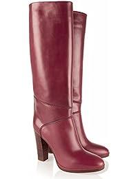 L@YC Botas de mujer Stiletto Heel Round Toe Knee High PU Cuero sintético Otoño Invierno Confort Novedad