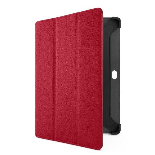 Belkin Tri-Fold Folio Schutzhülle, Kunstleder, für Samsung Galaxy Tab 2 10 rot - Belkin Galaxy Tab